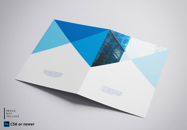 Tweevoudige brochure mock up