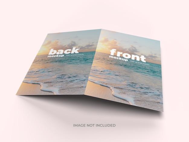 Tweevoudige brochure mockup buitenpagina