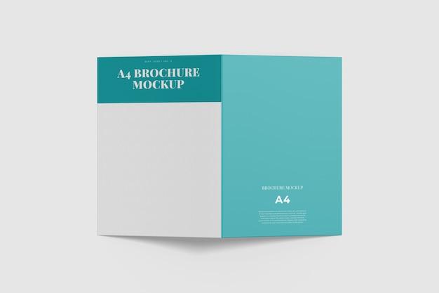 Tweevoudige brochure mockup geïsoleerd