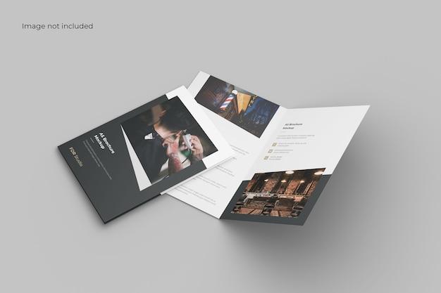 Tweevoudige brochure mockup