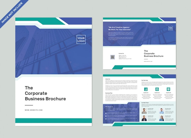 Tweevoudige brochure template