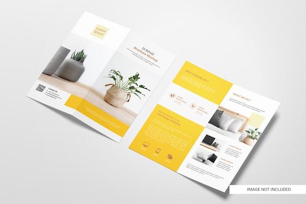 Tweevoudige flyer brochure mockup