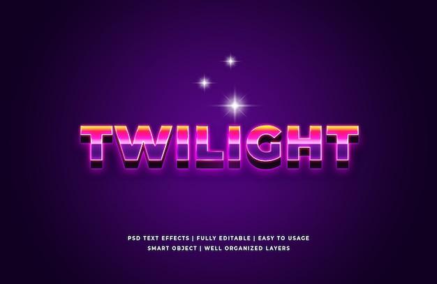 Twilight 3d-tekststijl effect premium psd