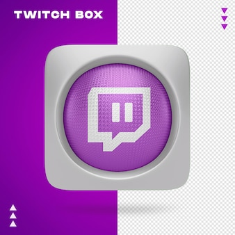 Twitch box en 3d renderin aislado