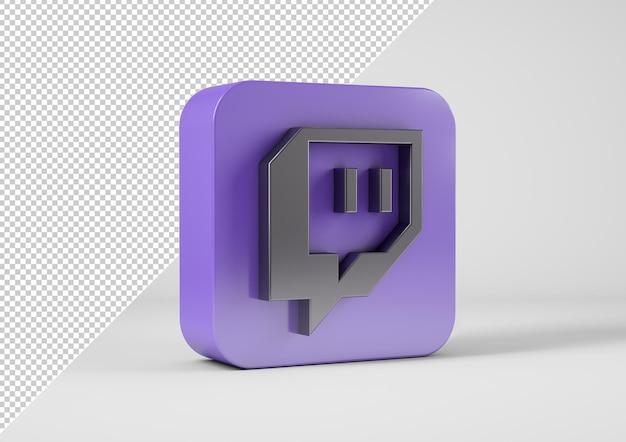 Twitch-logo in 3d-weergave