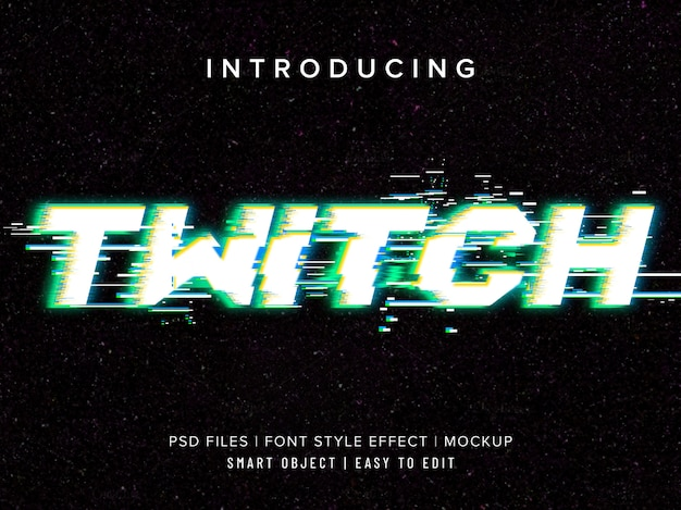 Twitch video television text effect