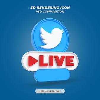 Twitter live videostreaming frame