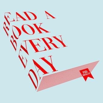 Typografie boek mockup