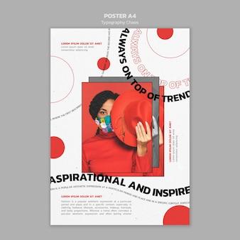 Typografie chaos poster Gratis Psd