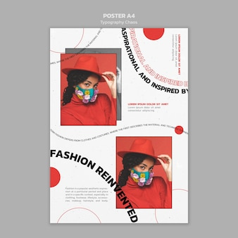 Typografie chaos poster