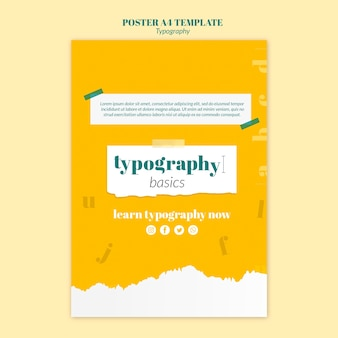 Typografie dienst folder sjabloon