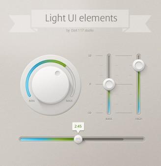 Ui ui luce di controllo ui elementi