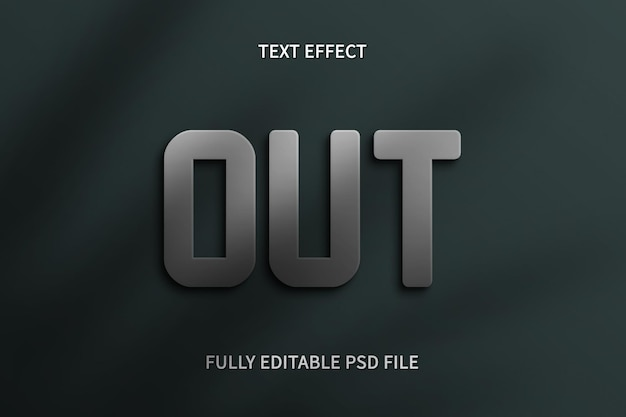 Uit tekst effect