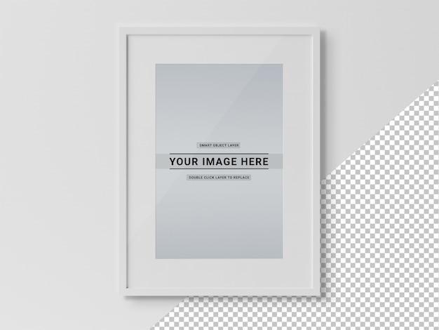 Uitgesneden zwart rechthoekig frame mockup