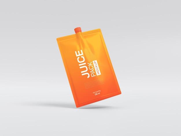Uitloop juice pack mockup