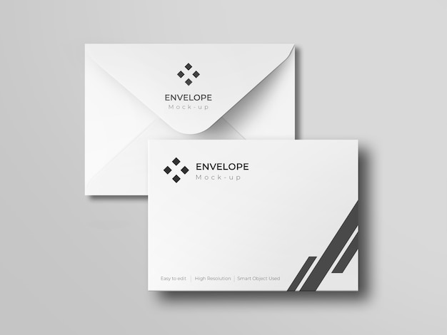 Uitnodiging envelop mockup