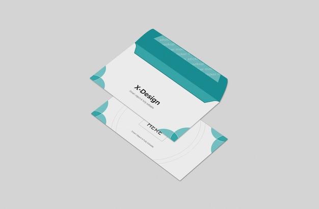 Uitnodiging of envelop mockup sjabloon