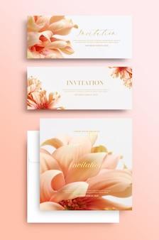 Uitnodigingskaart met bloemmotief