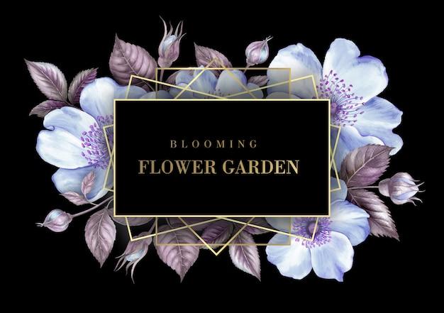 Uitnodigingskaart met sakura bloemen.