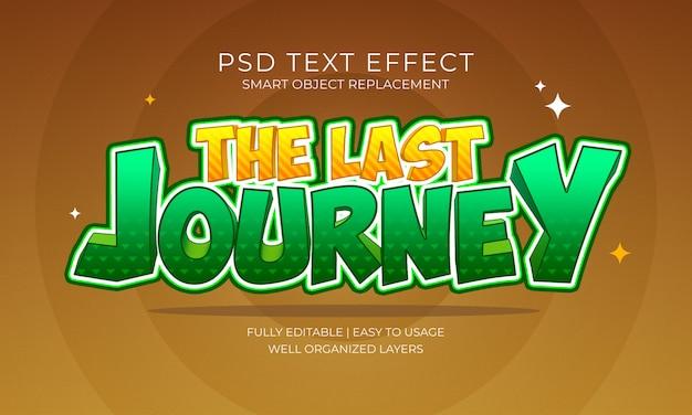El último efecto de texto de viaje