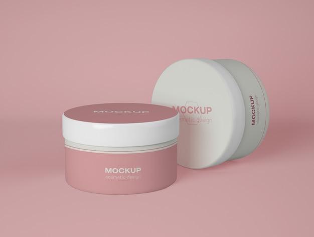 Un modello di due contenitori cosmetici