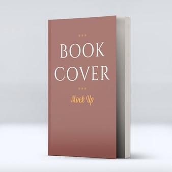Una bella copertina morbida del libro mock-up