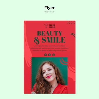 Uniek schoonheid flyer-thema