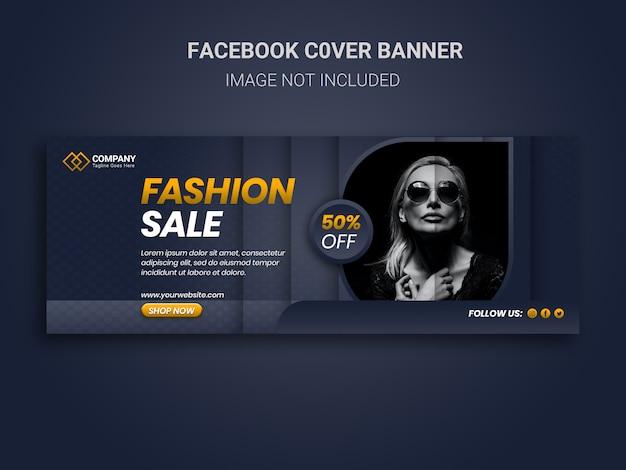 Unieke fashion sale promotie facebook-omslagontwerp