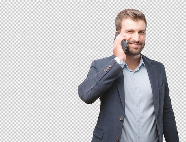 Uomo affari, fare, telefonata