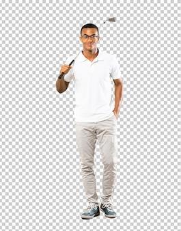 Uomo afroamericano del giocatore di golf
