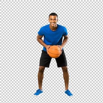 Uomo afroamericano del giocatore di pallacanestro