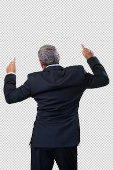Uomo d'affari che balla
