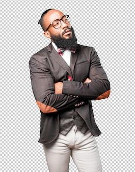 Uomo d'affari di colore pensando