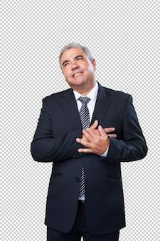 Uomo d'affari innamorato