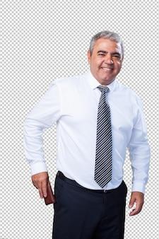 Uomo di affari maturi che tiene un portafoglio