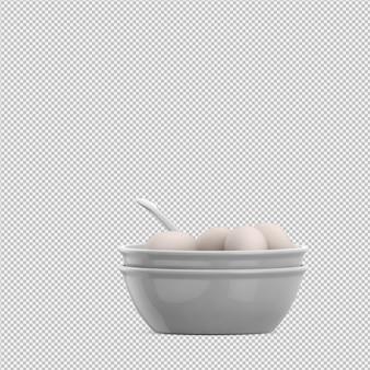 Uova rendering 3d