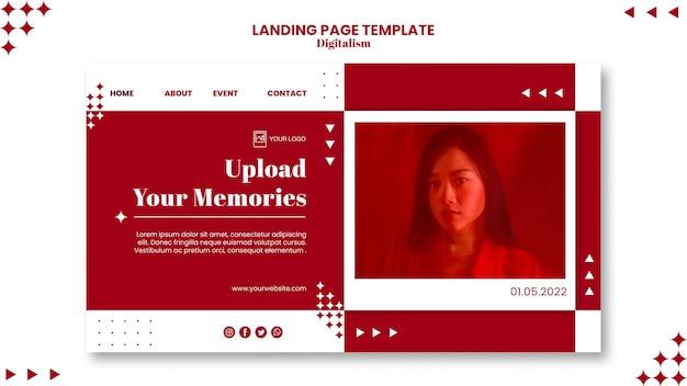 Upload de bestemmingspagina van uw herinneringen