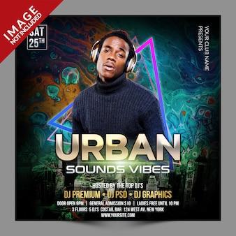 Urban sounds vibes social media-promotiesjabloon