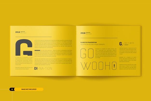 Us letter landscape brochure mockup