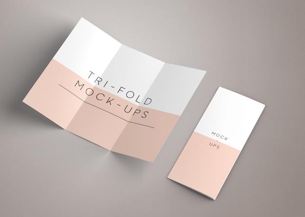 Us letter trifold mockup