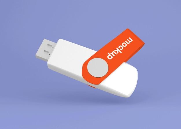 Usb flash drive stick mockup geïsoleerd