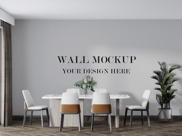 Uw ontwerpmodel voor de muur van een eetkamer