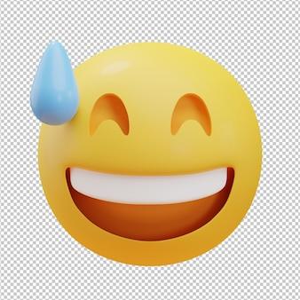 Uy cara emoji ilustración 3d