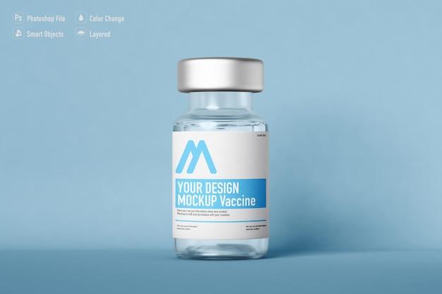 Vaccin fles mockup geïsoleerd ontwerp