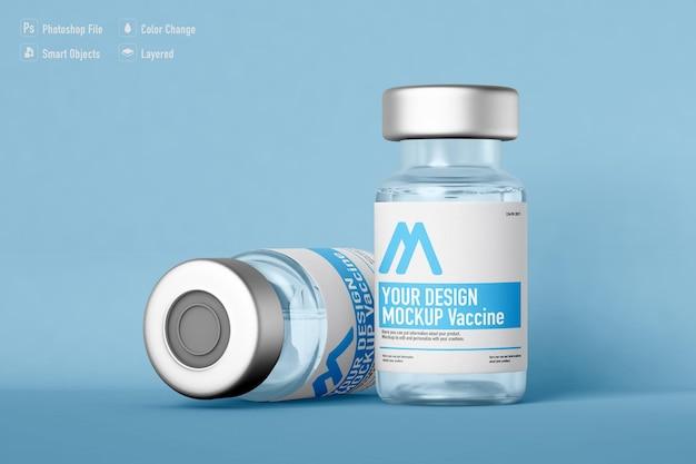 Vaccin flessen mockup geïsoleerd ontwerp