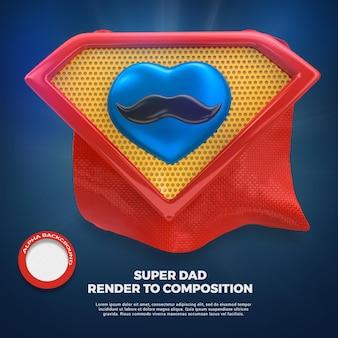 Vaders dag liefde papa 3d render geïsoleerd