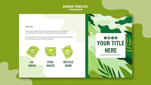 Vai modello di banner verde