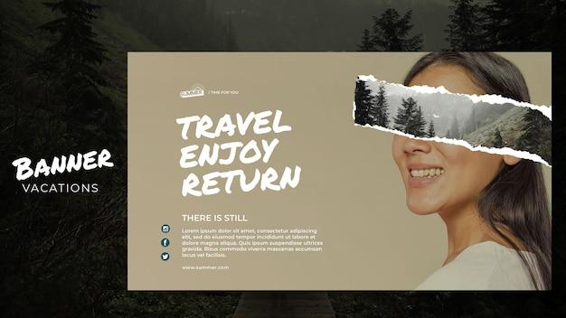 Vakantie concept sjabloon voor spandoek