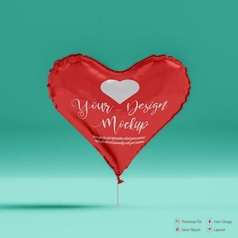 Valentijn ballon mockup geïsoleerd