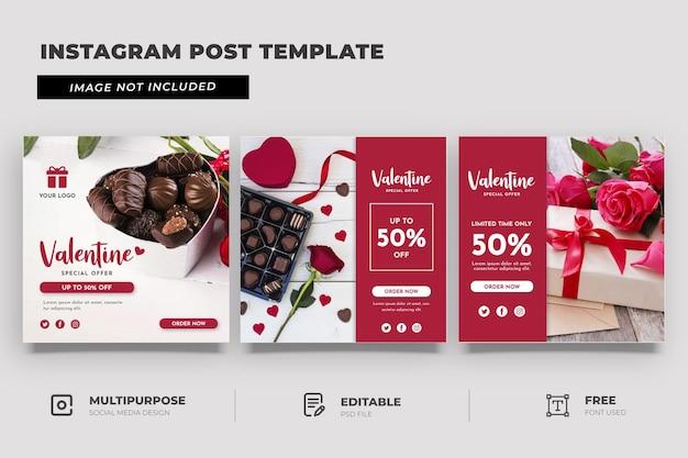 Valentijn cadeau speciale promotie sociale mediasjabloon